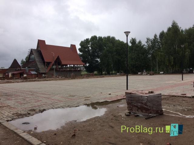 Реконструкция парка №1 в Благовещенске. 16 августа 2020