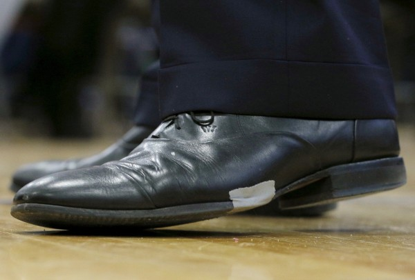 Ботинки кандидата в президенты США. Фото: Brian Snyder/Reuters