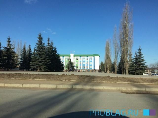 Апрель 2018. Строительство фонтана в Благовещенске